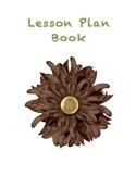 Flower Teacher Lesson Plan Book