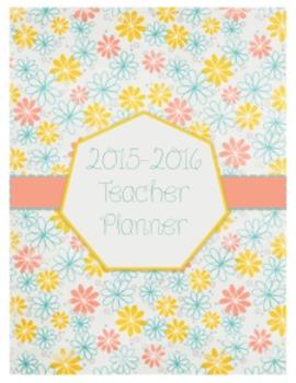Flower Teacher Planner