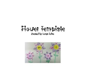 Flower Template - Pronouns