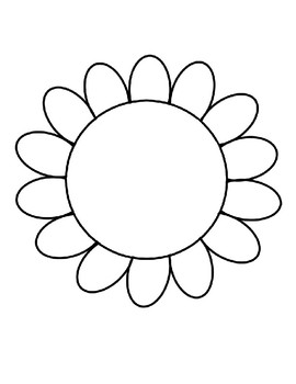 Flower Template For Art Project Flower Coloring Page Flower Outline