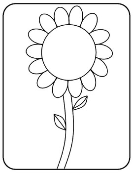 Flower Template for Art Project Flower Coloring Page Flower Outline Sheet