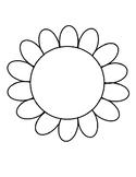 Flower Template for Bulletin Board Flower Coloring Page Flower Outline Art Proje
