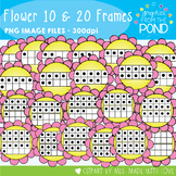 Flower Ten and Twenty Frame Clipart