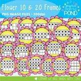 Flower Ten and Twenty Frame Clipart