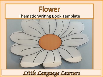 ESL Resources: Flower Thematic Writing Book Template-ELL N