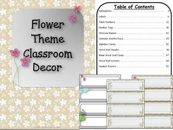 Flower Theme Classroom Decor