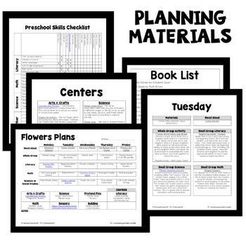 flower theme preschool lesson plans by eceducation101 tpt