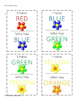 Flower Theme Preschool Pack