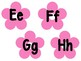 Flower Theme Word Wall Letter Headings