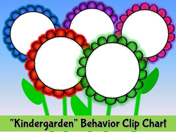 Flower Themed Behavior Clip Chart
