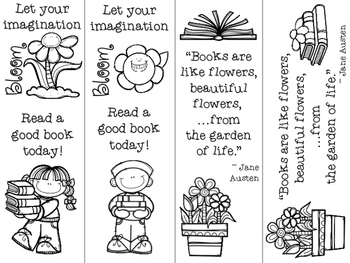 Flower Themed Bookmarks