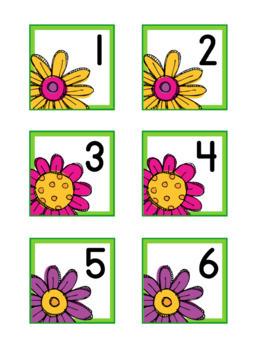 Flower Fun Themed Calendar Numbers