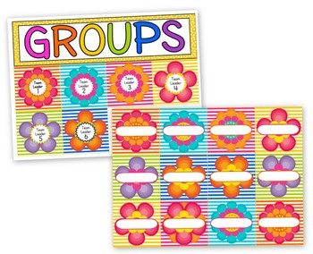 Flower Themed Center Grouping Cards