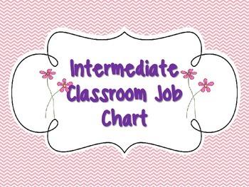 Flower Themed Job Chart