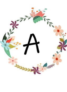 Flower Themed Letters For Word Wall