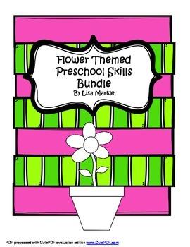 Spring Flower Preschool Math and Literacy Skills Bundle