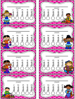 Flower Themed Punch Card Pack
