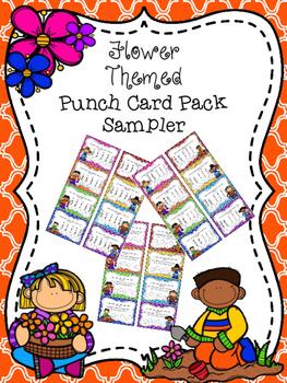 Flower Themed Punch Card Sampler
