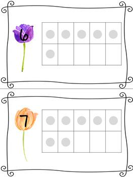 Flower Themed Ten Frames