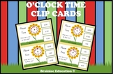 Flower Time O'clock Clip Cards