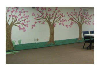 Flower Trees - made out of construction paper