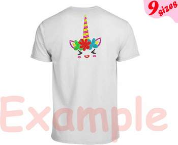 Flower Unicorn Embroidery Design Machine cute smile face happy girl horn 136b