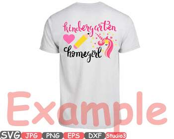 Flower Unicorn Kindergarten clipart home girl birthday back to school heart 693s
