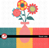 Flower Vase Digital Paper and Clipart Set by Poppydreamz