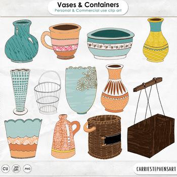Flower Vases Clip Art