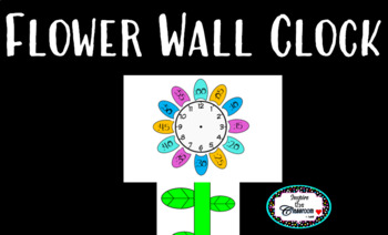Flower Wall Clock Labels