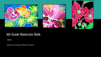 Flower Watercolor Batik Middle School Project PowerPoint