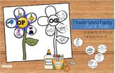 Flower Word Family Cut & Paste Worksheets