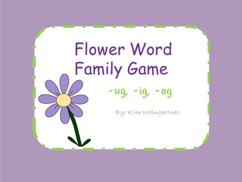 Flower Word Family Game