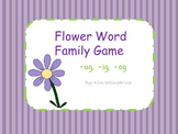 Flower Word Family Game