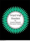 Flower Word Wall Headers