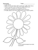 Flower Word Wheel Templates - Vocabulary - Writing
