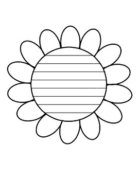 spring flower writing paper flower template with lines writing paper