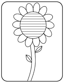 Spring Flower Writing Paper Flower Template With Lines ...