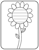 Spring Flower Writing Paper Flower Template With Lines Wri