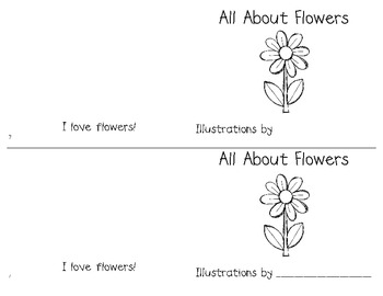 Flower Writing Unit (papers, graphic organizers, craftivity, easy reader, etc.)