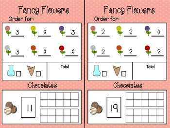 Flower and Chocolate Shop Dramatic Play and Math Center