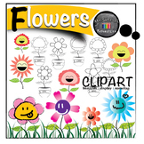 Flower and Flower Pot Clip art and Labels