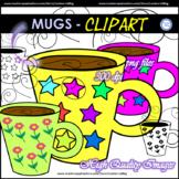 Flower and Stars - MUGS Clip Art