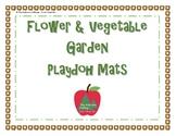 Flower and Vegetable Garden Playdoh Mats