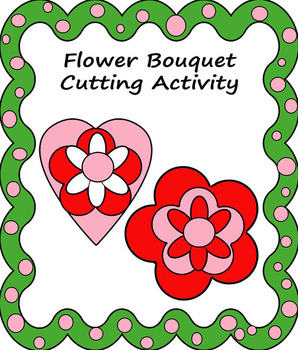 Flower bouquet for cutting, gluing, and writing