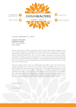 Flower chrysanthemum Word resume
