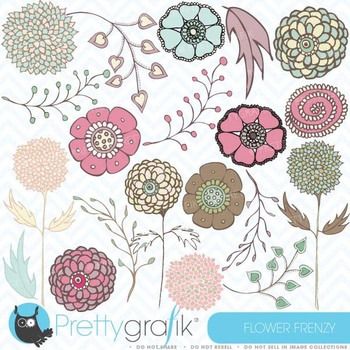 Flower clipart commercial use, vector graphics, digital cl