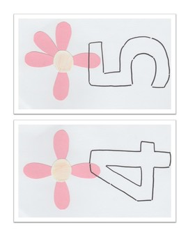 Flower counting flashcards