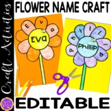 Flower craft | Editable Name Practice | Summer Spring Chry