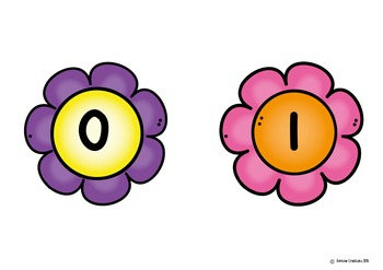 Flower numberline 0 to 20